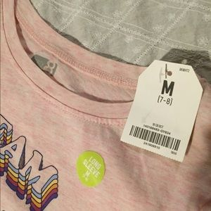Crazy 8 Shirts & Tops - NWT.  Girls light pink graphic tee.  Size M (7/8)